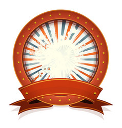 abstract fourth of july badge with ribbon vector image