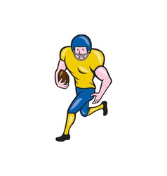 American Football Running Back Cartoon vector