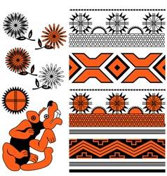 Ancient american ornaments vector