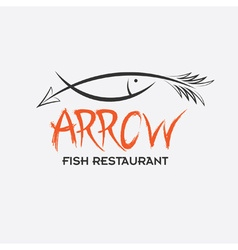 Arrrow fish restaurant vector