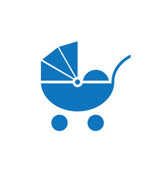 baby trolly vector image