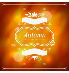 Background of stylized autumn leaves for greeting vector image