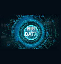 big data visualization vector image