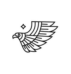 bird frey monoline logo icon vector image