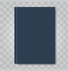 book cover mock up dark blue color ready vector image