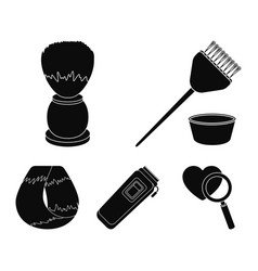 Brush for painting hair and other equipment vector