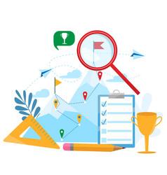 Business concept goal-setting achievement vector