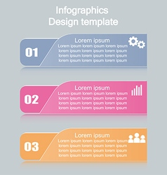Business infographics tabs template for presentati vector image