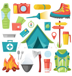 camping camp adventure for tourism and vector image