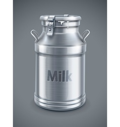 Can container for milk vector