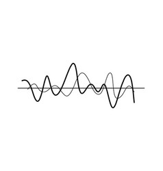 chaotic wavy lines icon vector image