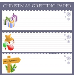 Christmas greeting paper with snowflakes vector image