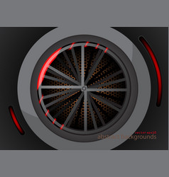 Circular metal shapes vector