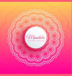Colorful mandala art elegant background vector