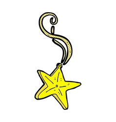 Comic cartoon magic star necklace vector