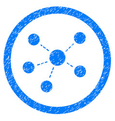 Connections rounded grainy icon vector