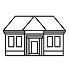 courthouse icon outline style vector image