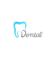 Creative dental care clean blue teeth logo vector