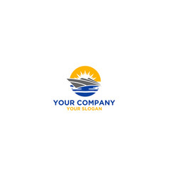Cruise vocation logo design vector