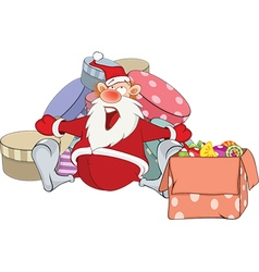 Cute Santa Claus and Christmas vector image