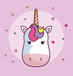 Cute unicorn design vector