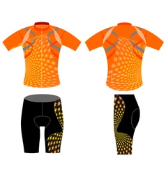 Cycling shirt vector