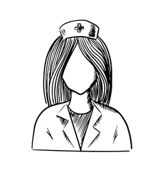 Doctor or nurse icon sketch vector image
