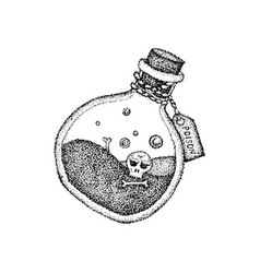 dotwork poison bottle vector image