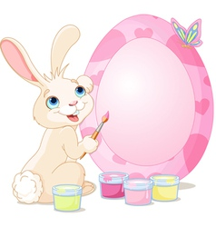 Easter Bunny painting Easter Egg vector