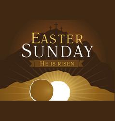 Easter sunday holy week card vector