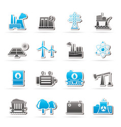 energy producing industry and resources icons vector image