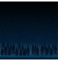 Falling snow Christmas tree Star vector