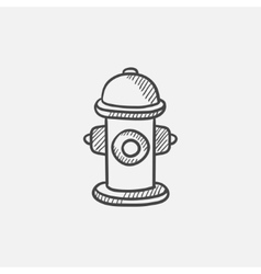 Fire hydrant sketch icon vector image