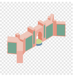 Gate in dubai isometric icon vector