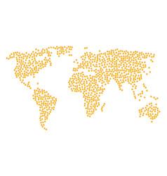 Global map mosaic of birthday cake items vector