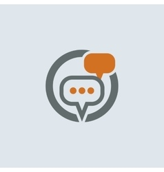 Gray-orange Conversation Bubbles Round Icon vector image vector image