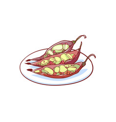 green papaya salad isolated icon vector image