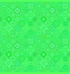 green seamless diagonal square pattern - mosaic vector image