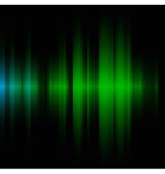 Green wave on black background vector