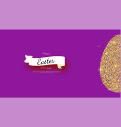 greetings card with happy easter holidays vector image