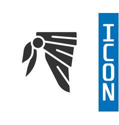 Grey bandana or biker scarf icon isolated on white vector