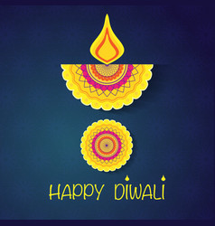 happy diwali wallpaper vector image