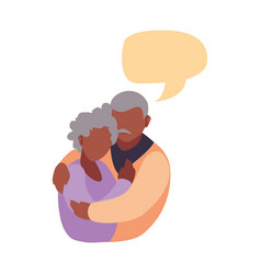 Happy grandparents day flat design vector