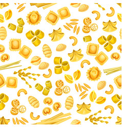 Italian pasta seamless pattern for food design vector