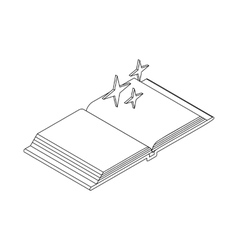 Magic book icon isometric 3d style vector