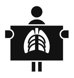 man at renghen icon simple style vector image