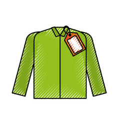 Market clothes price tag new wear shirt vector