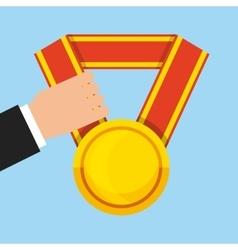Medal award design vector