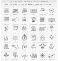 Modern online education ultra modern vector