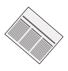 Newspaper info article vector image